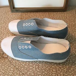 Shoes - New Denim BOHO distressed slip on sneakers flats 8